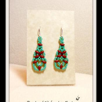 A Touch of the Southwest Chandelier Seed Bead Earrings